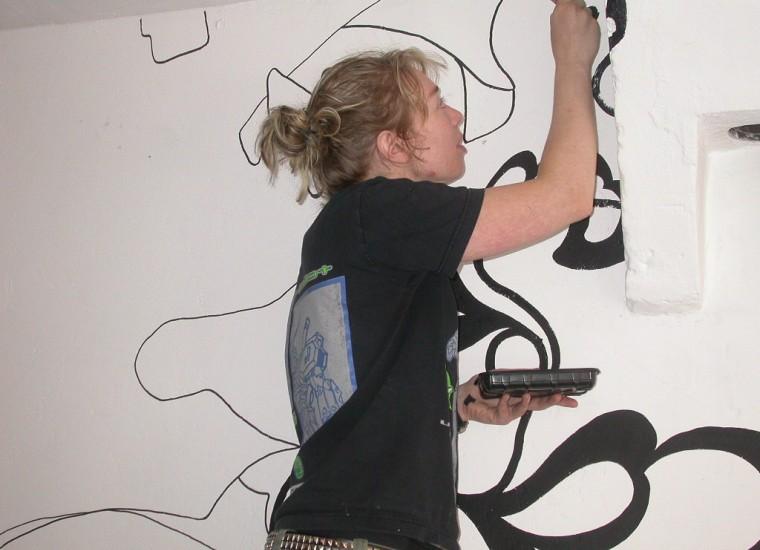 Marije Vermeulen aan het werk
