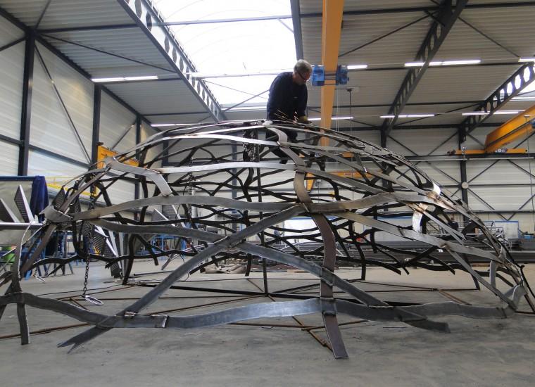 Nest van Andreas Hetfeld in de werkplaats